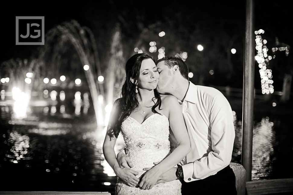 Night Wedding Photos at Lake Oak Meadows