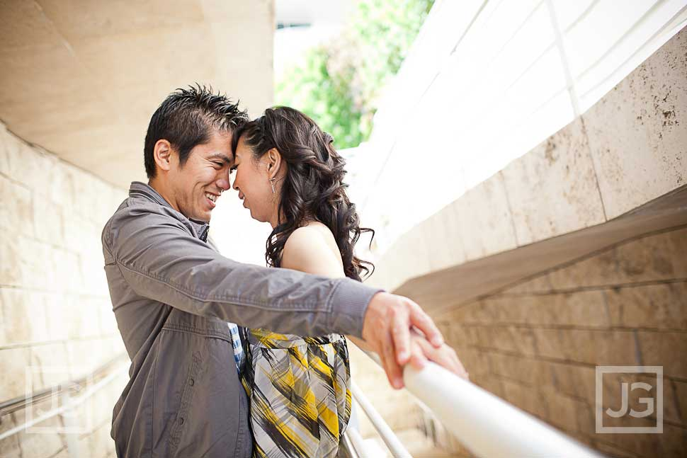 Getty Center Engagement Photography