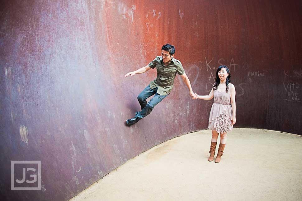 Getty Center Engagement Photography, UCLA | Lisa & Koichi