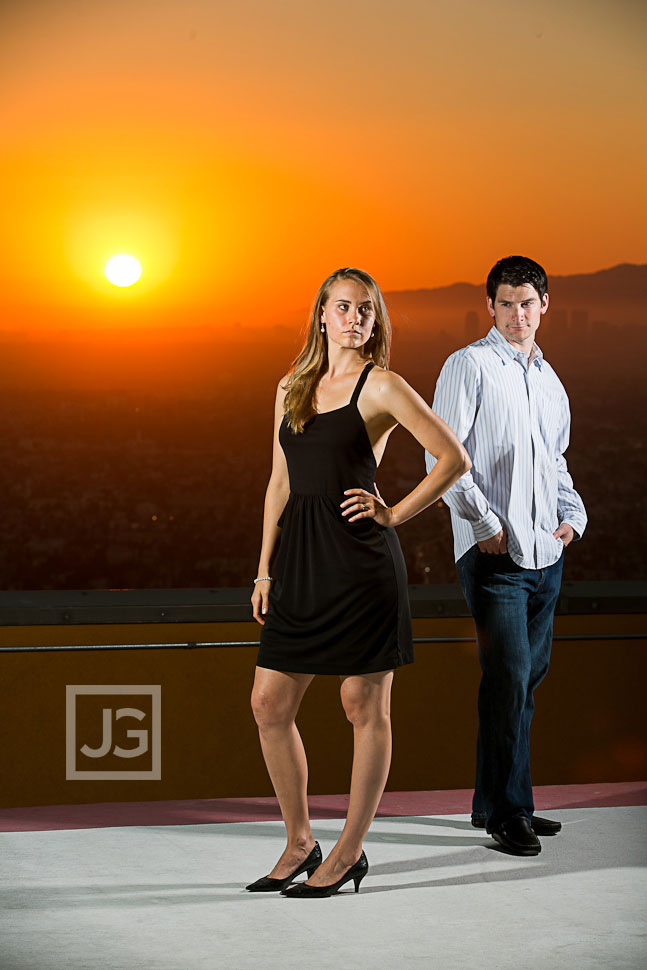 Helipad Rooftop Engagement Photography