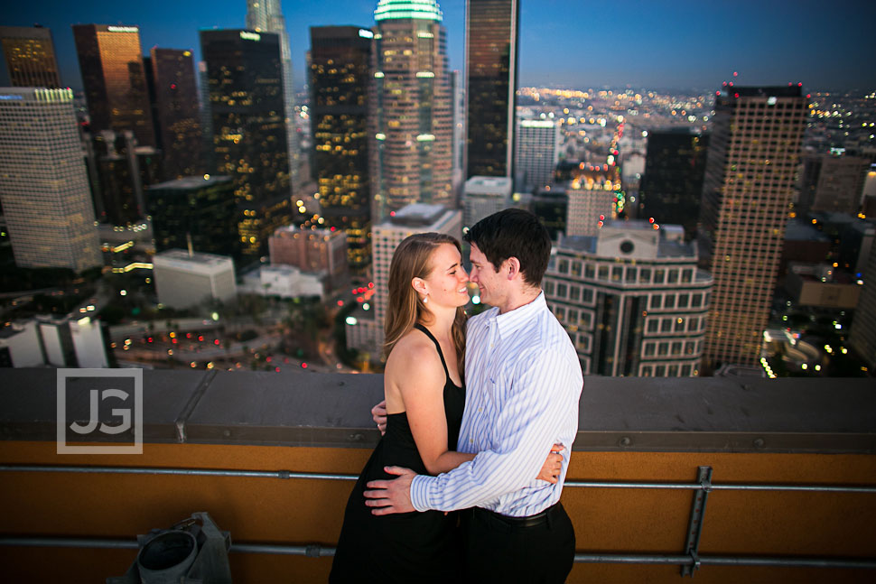 Rooftop Engagement Photography