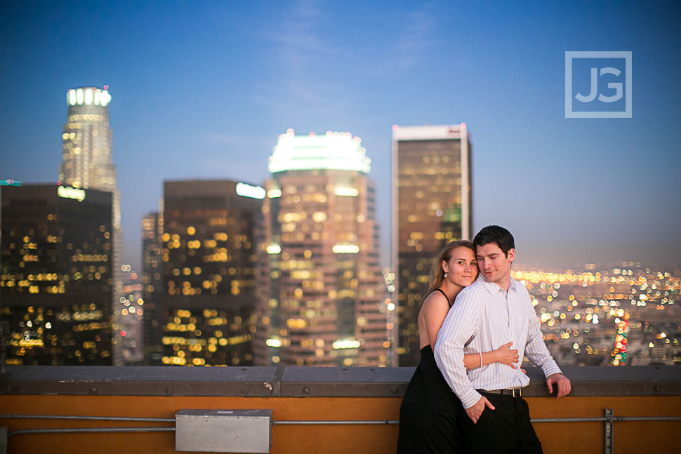 Rooftop Engagement Photography Los Angeles