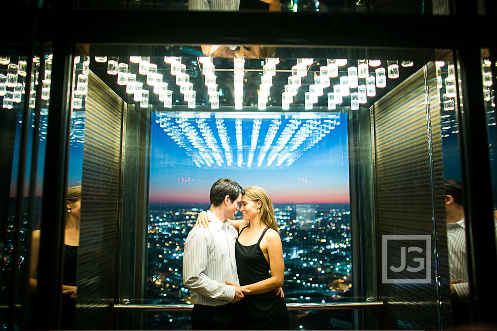 Elevator Engagement Photography