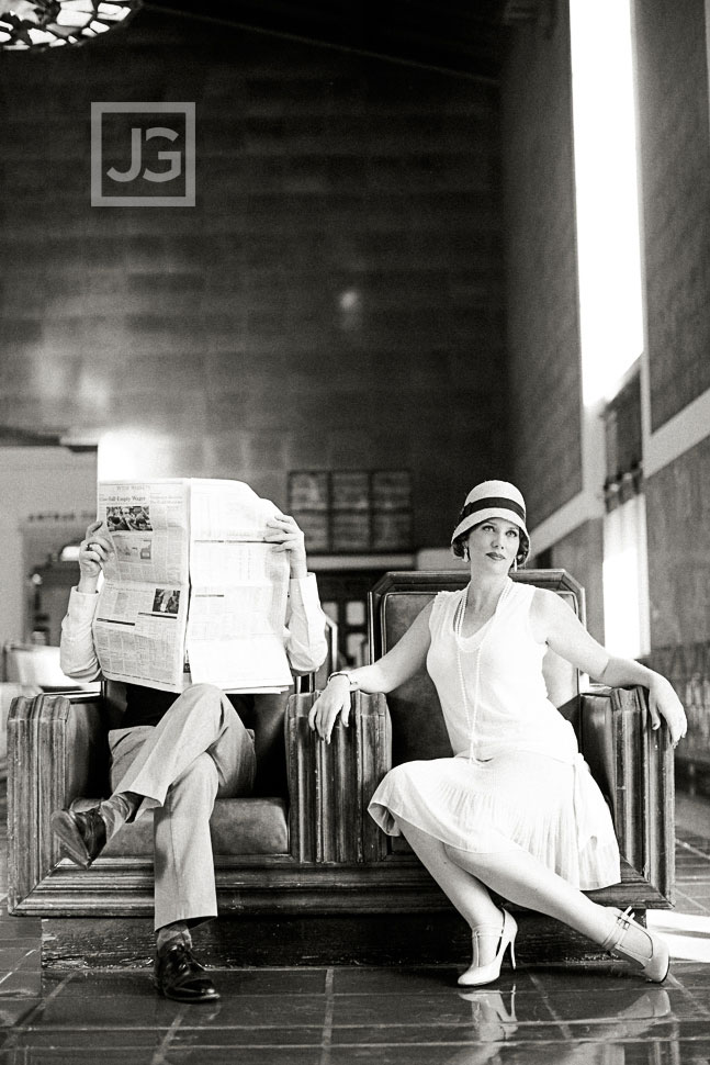 Vintage Union Station Engagement Photography