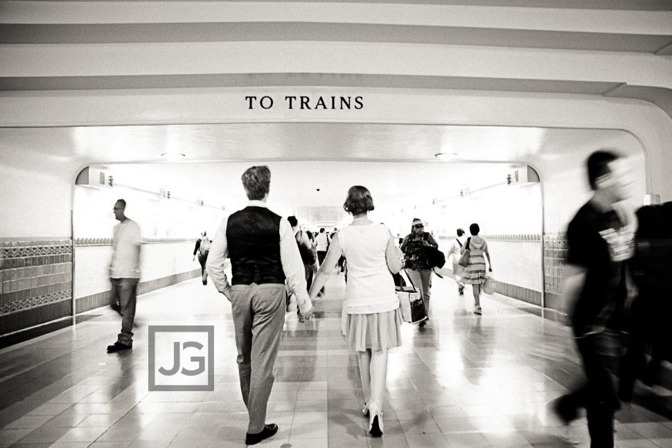 Union Station Engagement Photography