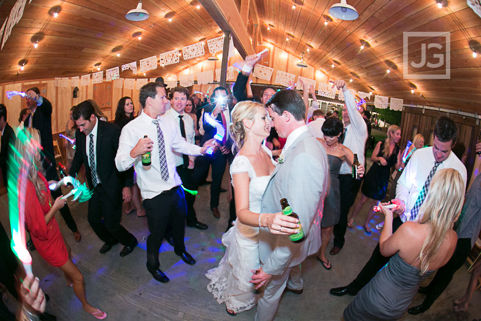 Radonich Ranch Wedding Reception Barn Dancing