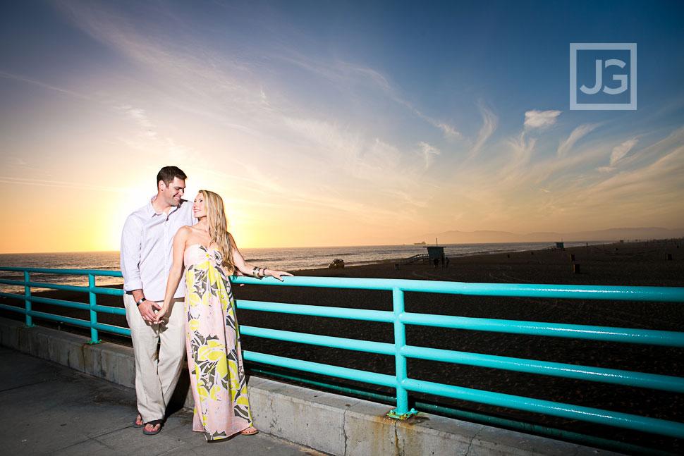 Manhattan Beach Pier Engagement Photography
