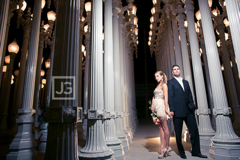 Manhattan Beach  Engagement Photography LACMA | B & W