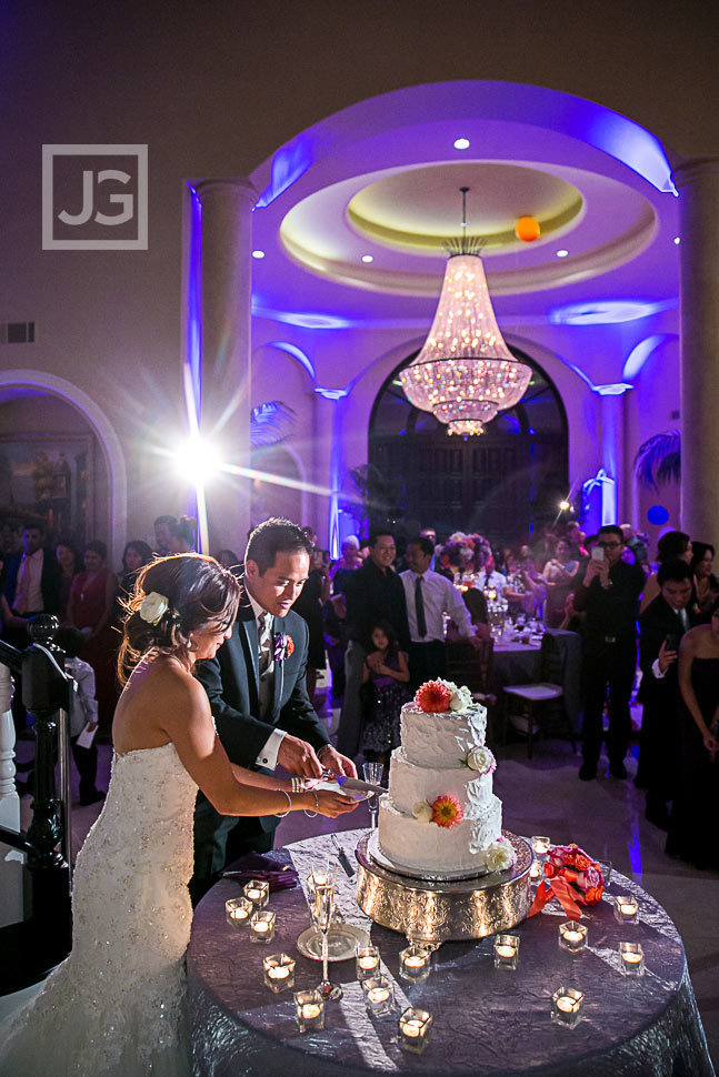 Cake Cutting in the Mansion Reception