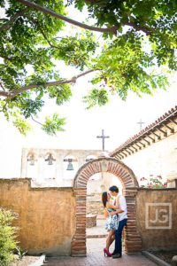 Mission San Juan Capistrano Engagement Photography Laguna Beach | Roanna & Alex
