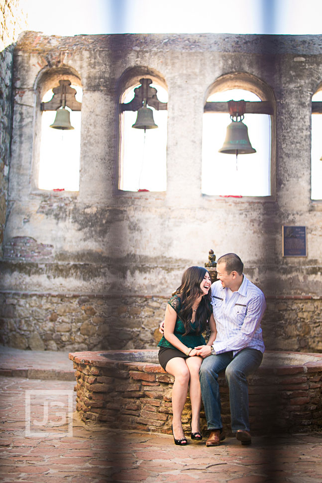 Mission San Juan Capistrano Engagement Photography | My & Ray