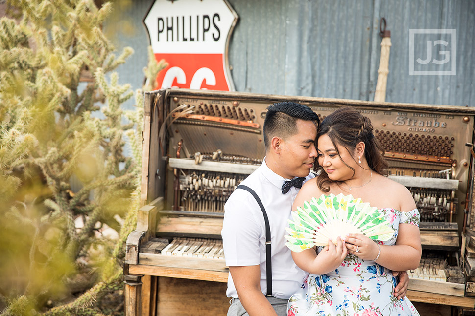 Piano engagement photo