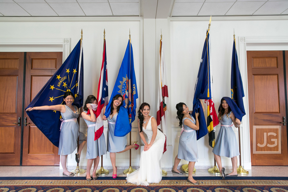 Nixon Library Wedding Party Photos