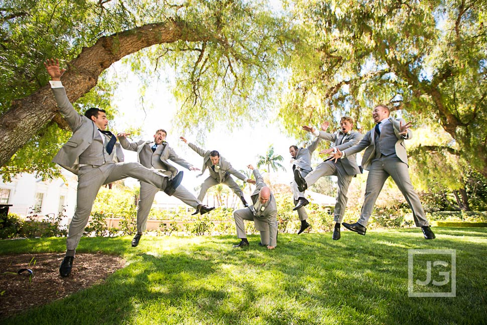 Nixon Library Groomsmen Photo