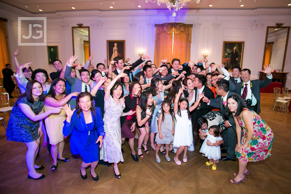 Richard Nixon Library Wedding Reception Group Photo