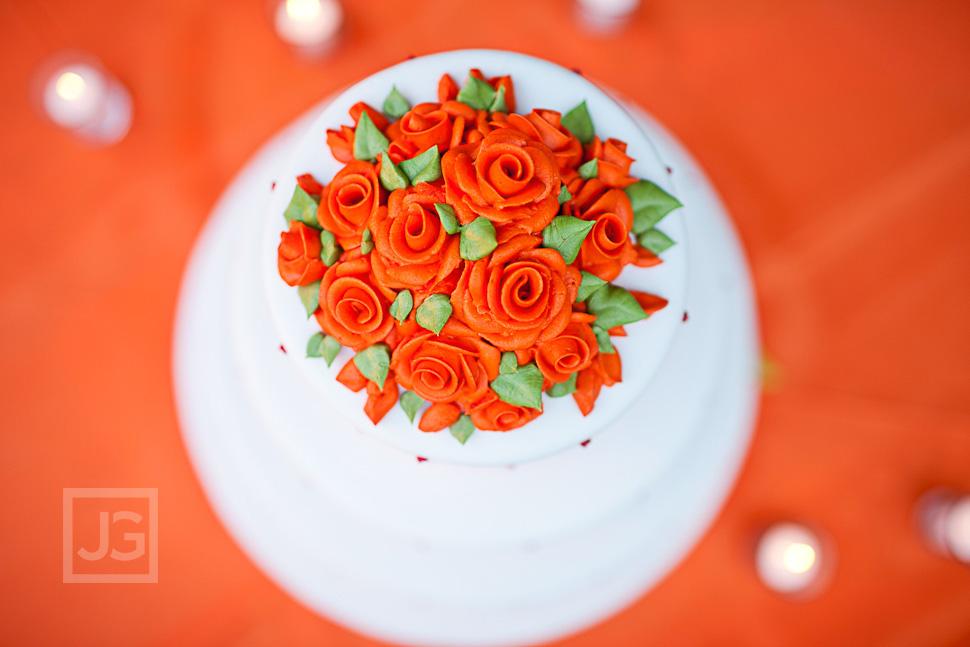 Wedding Reception LA River Center Cake