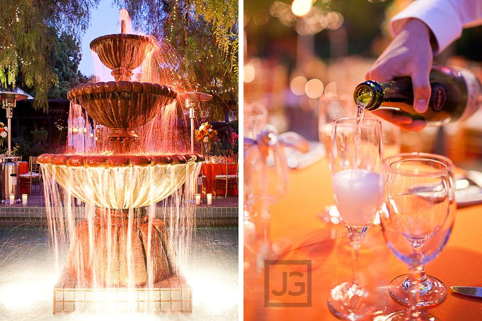 Wedding Reception LA River Center Water Fountain