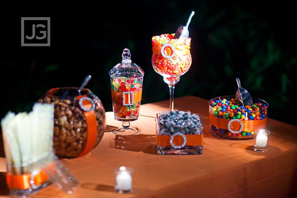 Wedding Reception LA River Center Candy Bar