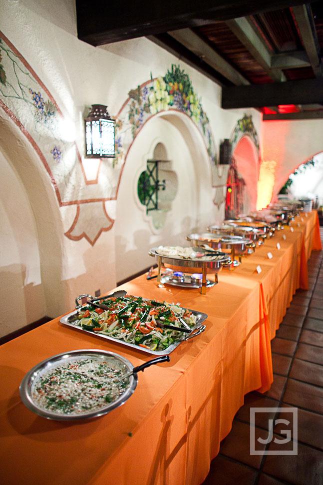 Wedding Reception LA River Center Indian Food