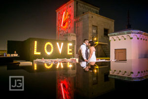 Los Angeles Oviatt Penthouse Rooftop Wedding Photography | Tania & Pablo