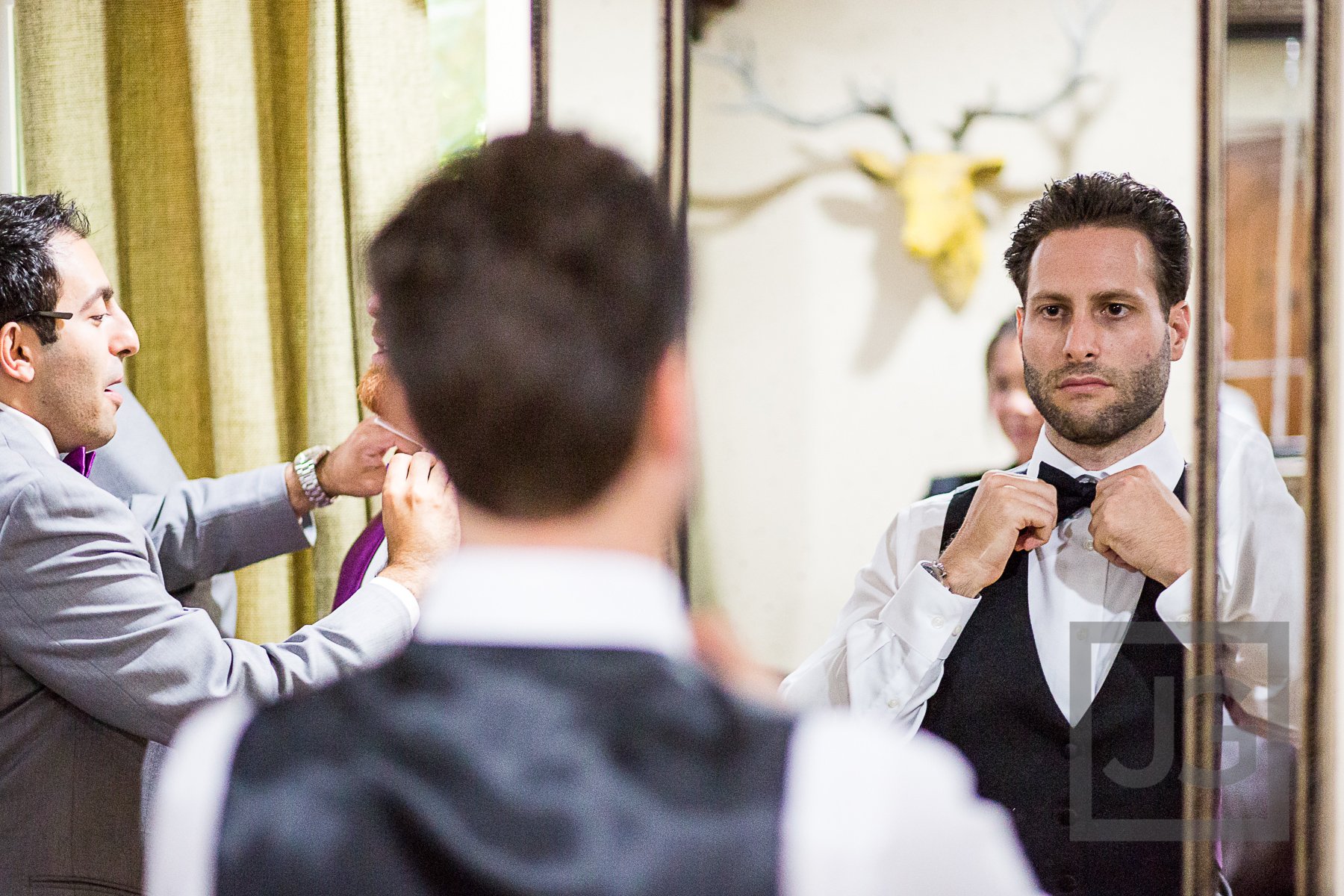 Oak Canyon Ranch Wedding Preparation Groom