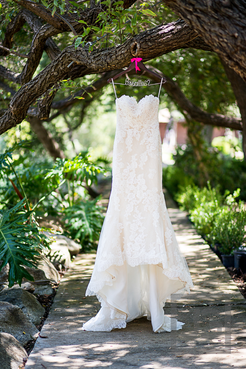 Oak Canyon Ranch Wedding Preparation Dress