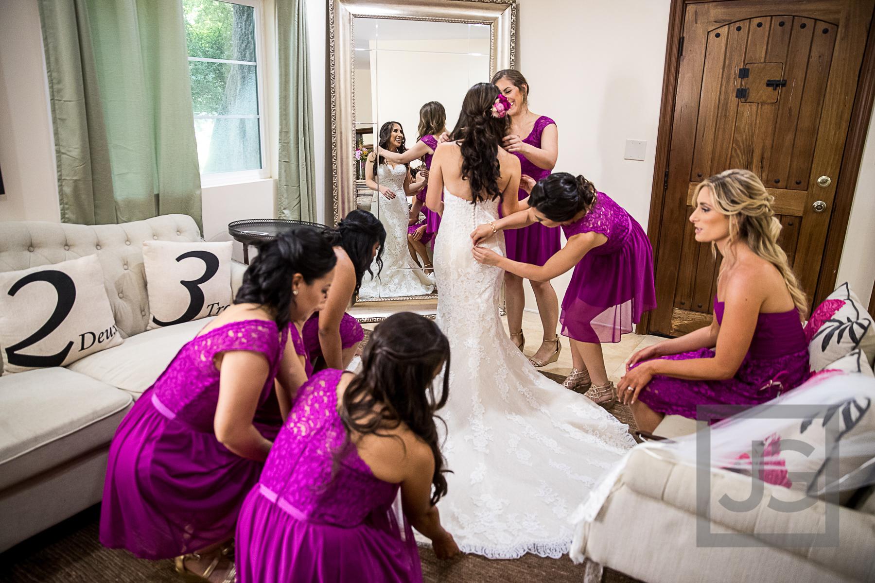 Oak Canyon Ranch Wedding Preparation Dress