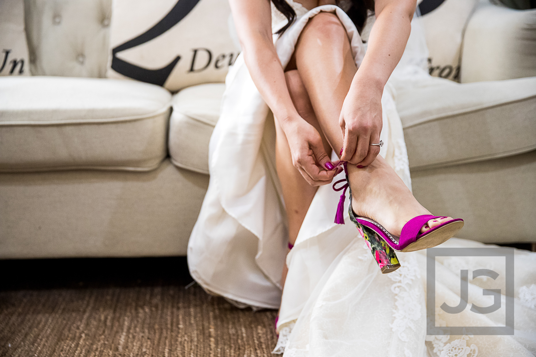 Oak Canyon Ranch Wedding Preparation Shoes