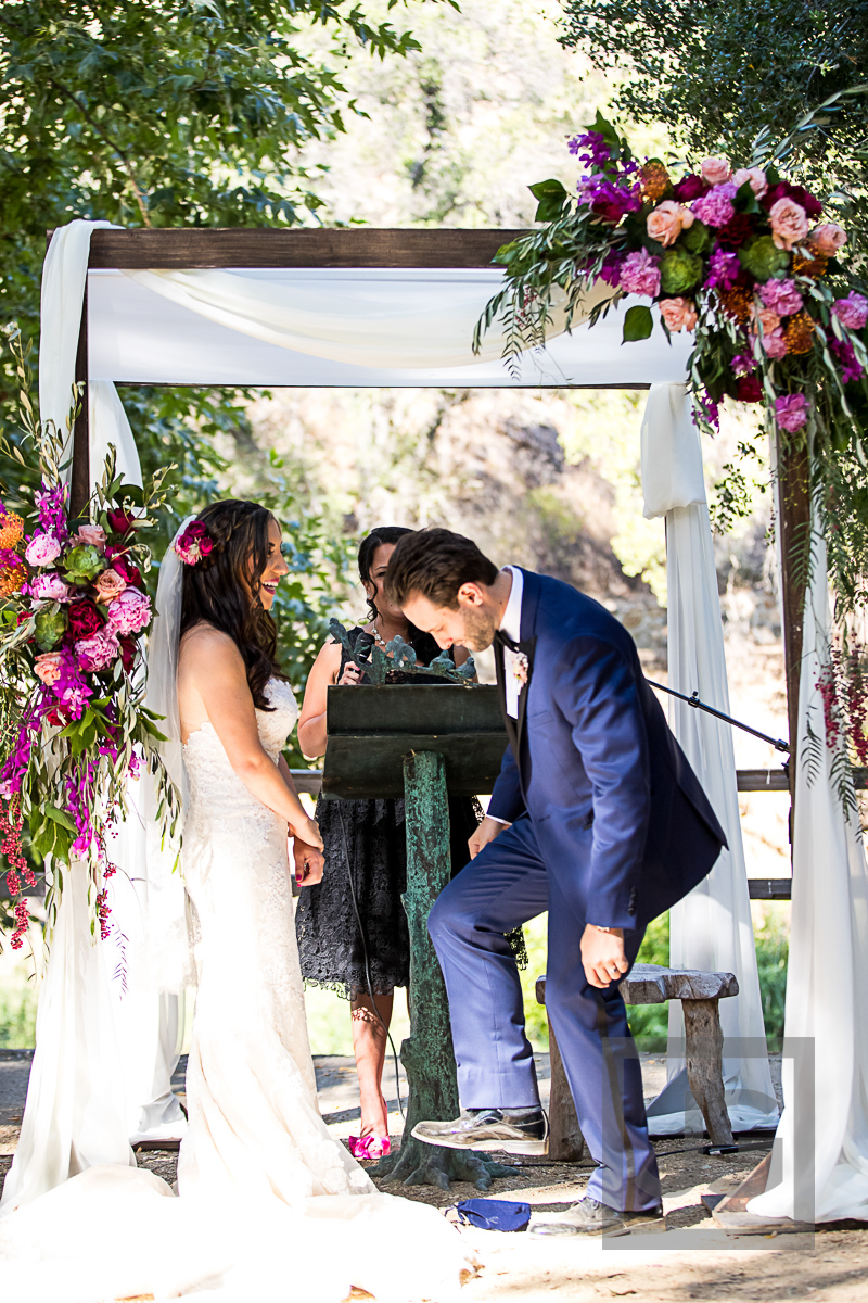 Oak Canyon Ranch Wedding Ceremony Glass Breaking