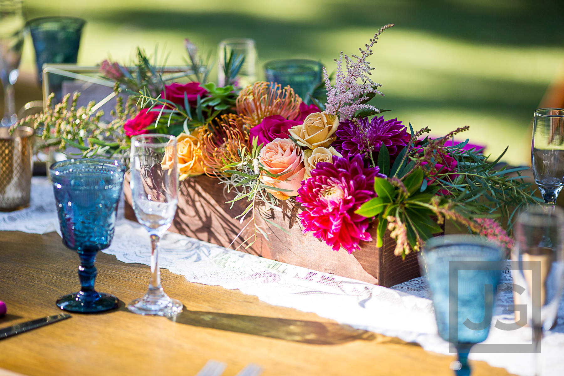Oak Canyon Ranch Wedding Table Setup