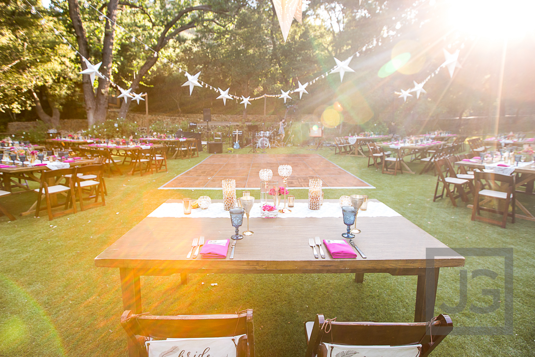 Oak Canyon Ranch Reception Table Setup