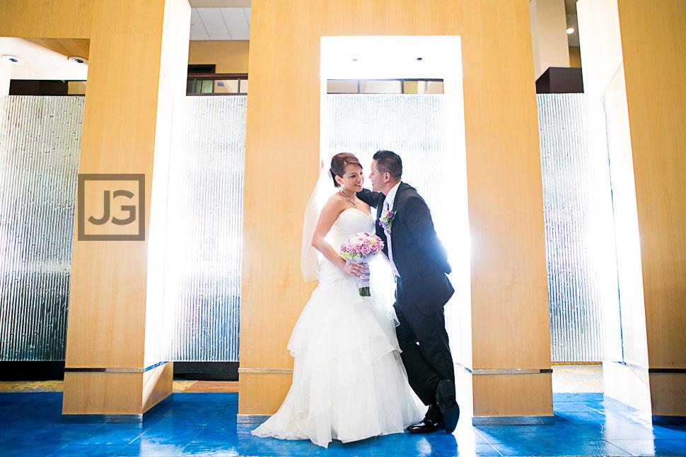 Pacific Palms Lobby Wedding Photo