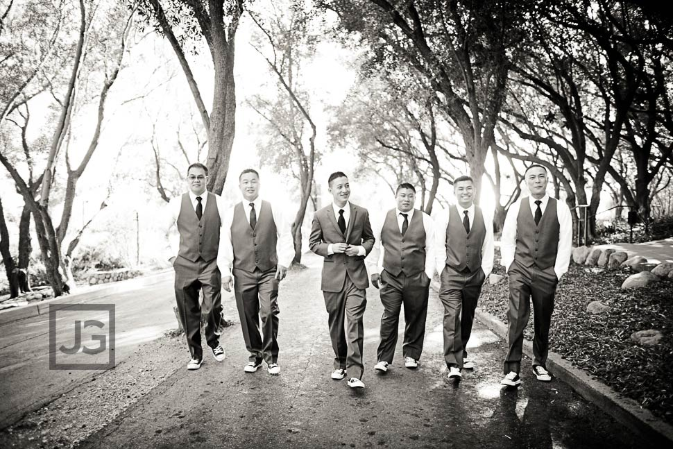 Groomsmen at Padua Hill