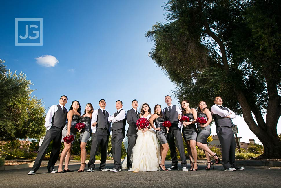 Bridal Wedding Party at Padua Hills Theatre