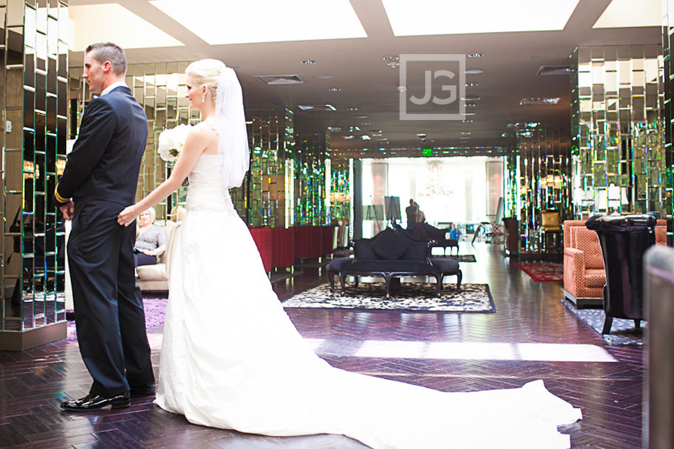 Riviera Palm Springs Wedding First Look