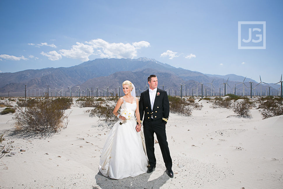 Palm Springs Wedding Photography Desert Wind Farm
