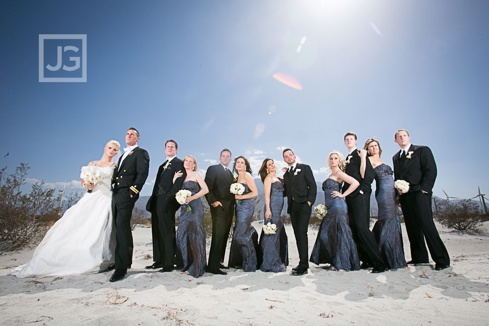 Palm Springs Wedding Party Photos