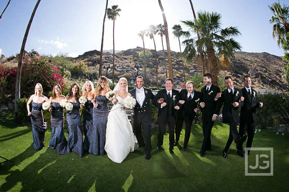 Spencer's Restaurant Palm Springs Wedding Party Photos