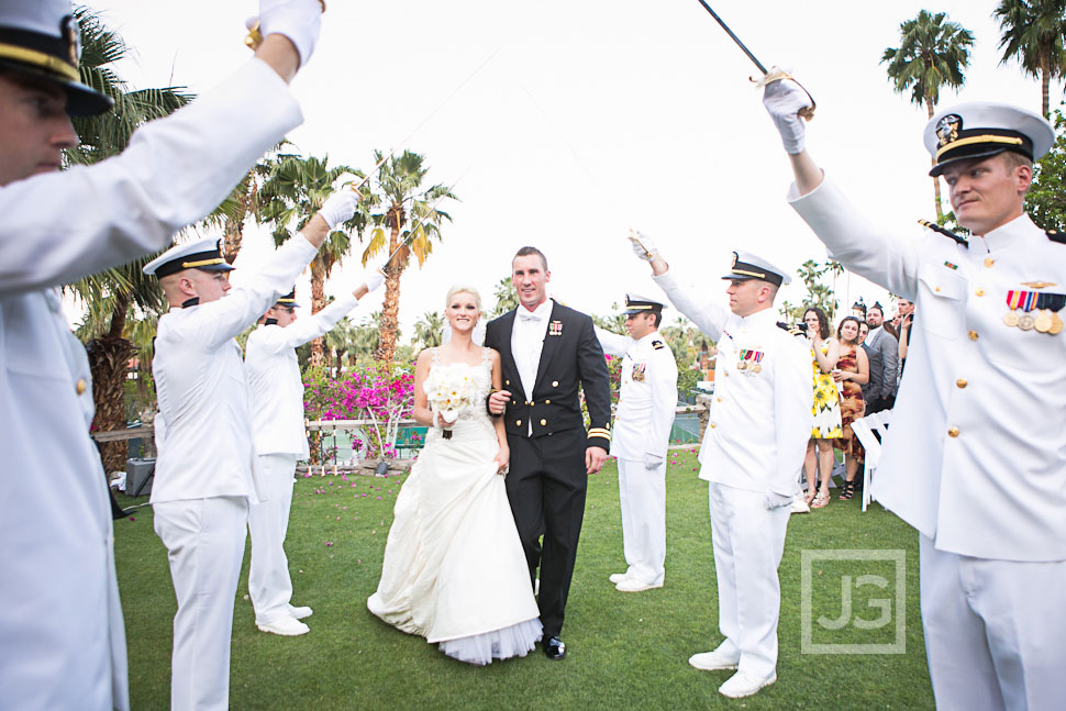 Palm Springs Military Wedding Ceremony