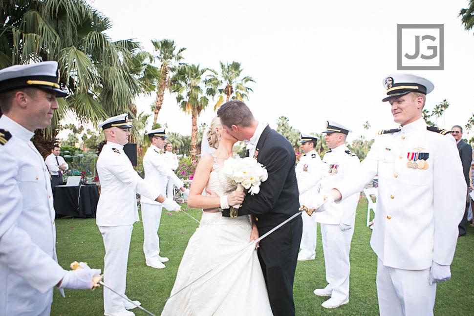 Palm Springs Military Wedding Ceremony
