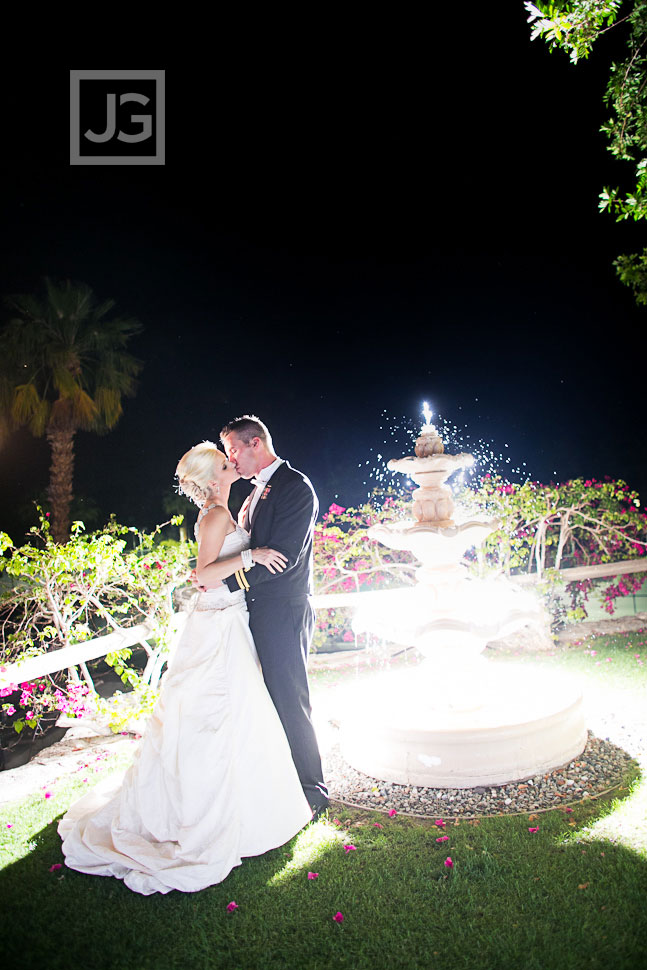 Palm Springs Night Wedding Photos