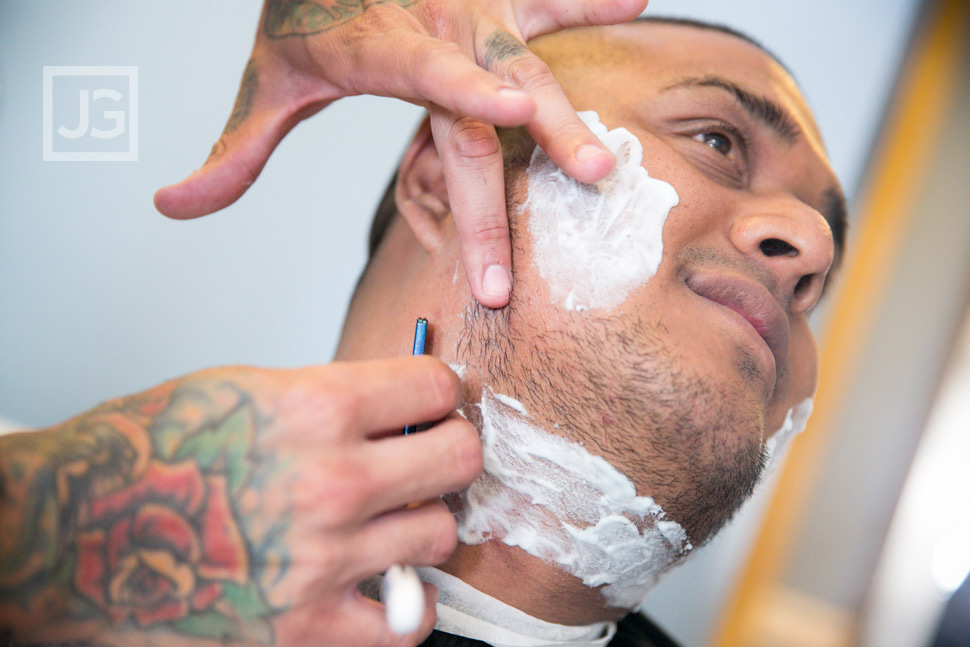 Wedding Preparation at the Portofino Hotel Shave