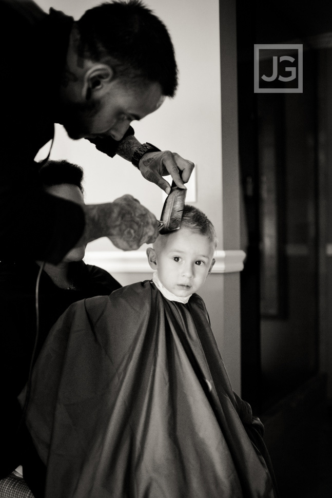Wedding Preparation at the Portofino Hotel Haircut