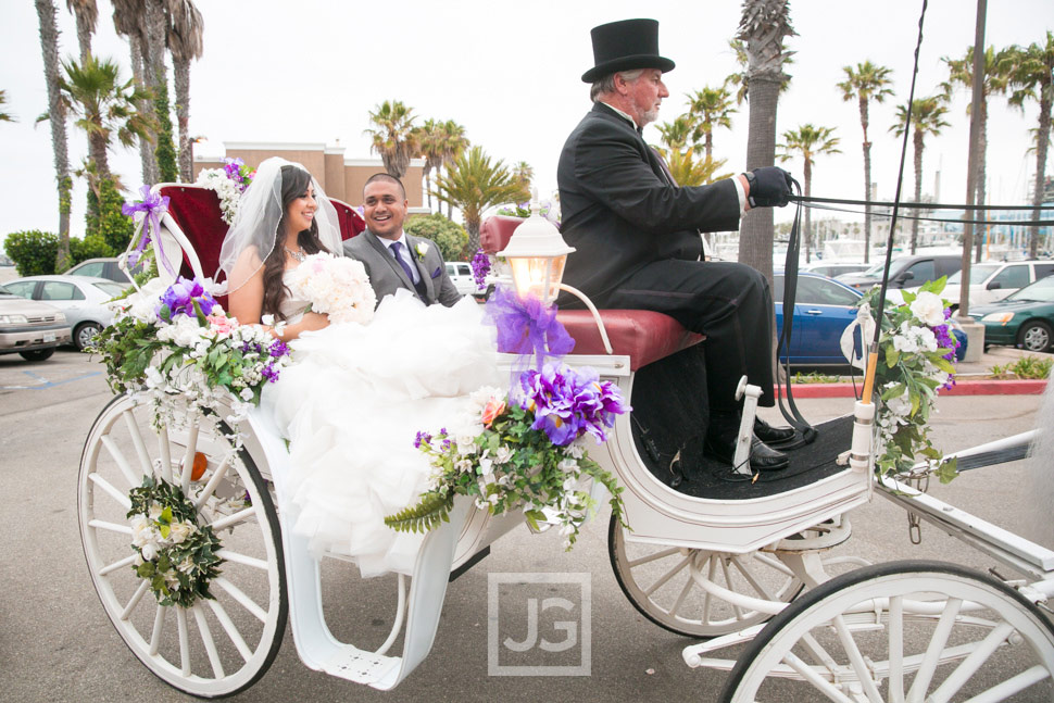 Portofino Hotel Wedding Ceremony Horse Carriage