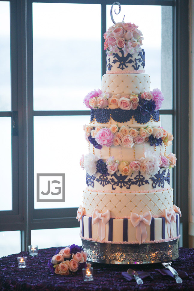 Portofino Hotel Wedding Cake Reception