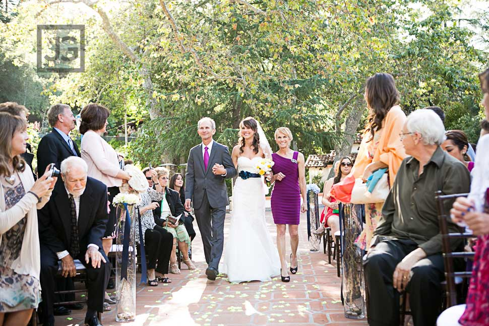 Wedding Ceremony at Rancho Las Lomas Bride