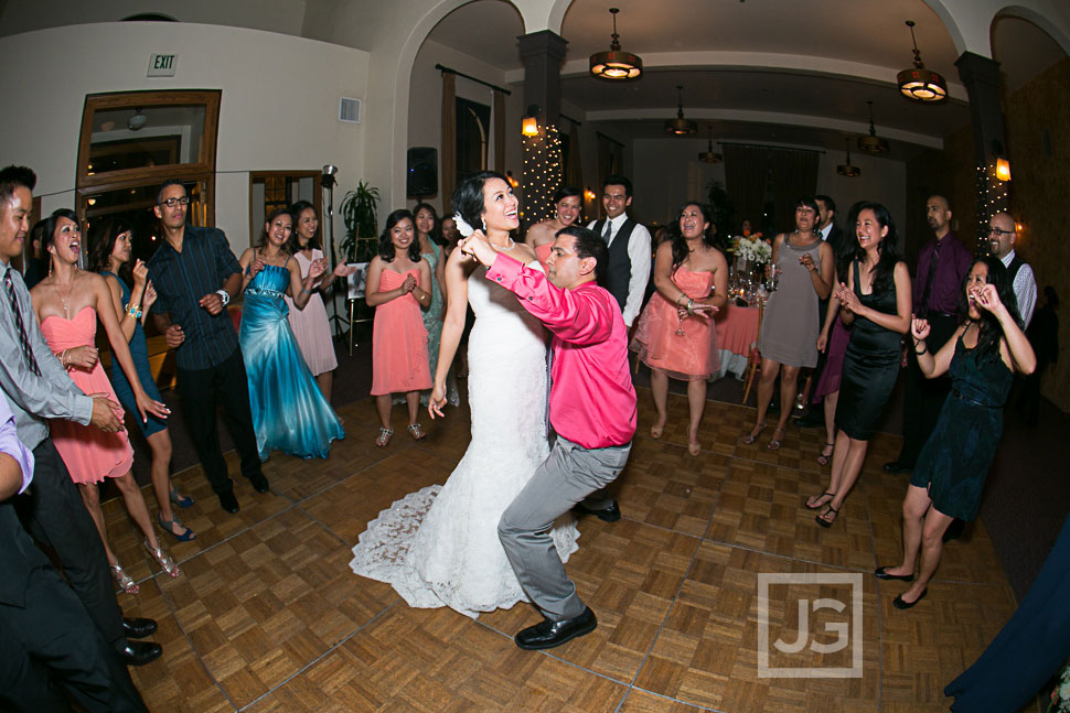 Redondo Beach Historic Library Wedding Reception Dancing