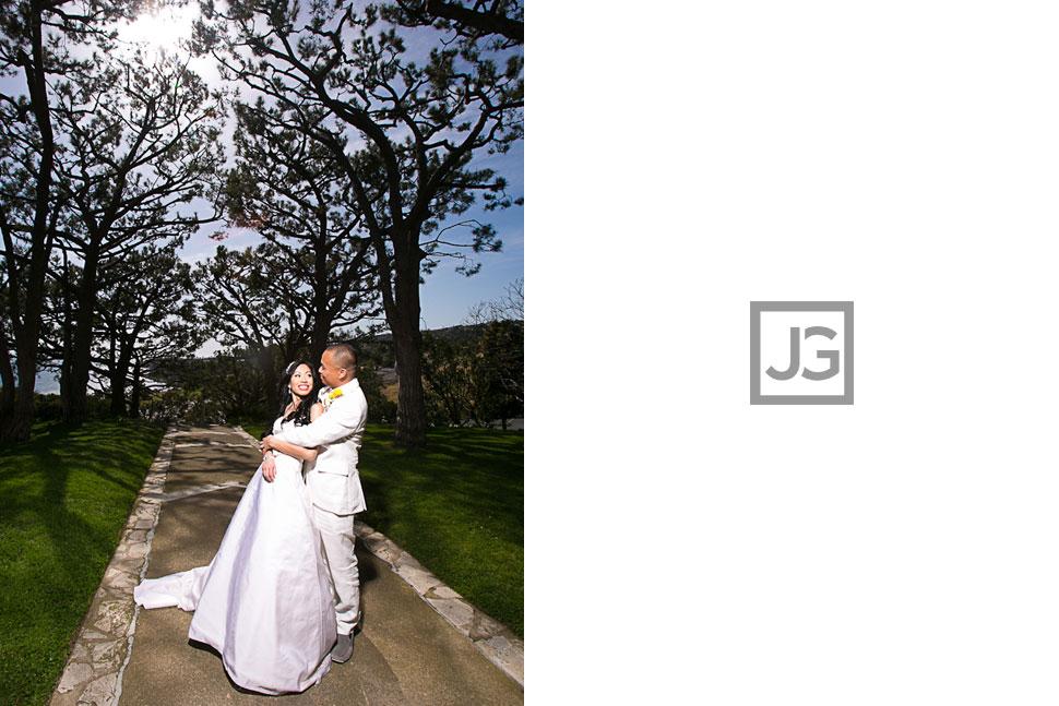 Wayfarer's Chapel in Rancho Palos Verdes Wedding
