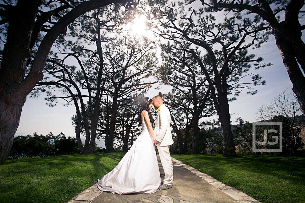 Wayfarer's Chapel in Rancho Palos Verdes Wedding Photography