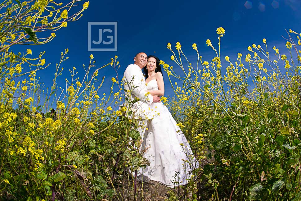 Palos Verdes Wedding Photography Yellow Flowers